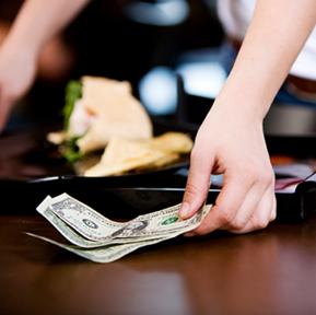 Tipping wait-staff