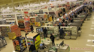 Checkouts at Canadian superstore