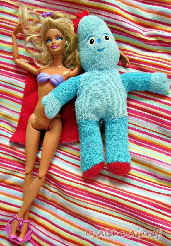 Barbie & Iggle Piggle get together, multi-racial relationships